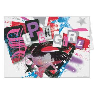 Diseño del Grunge de Supergirl Tarjeta De Felicitación