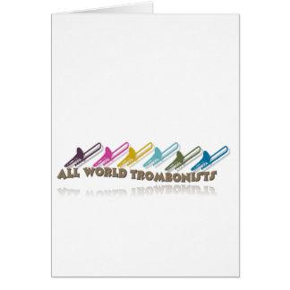 Diseño del grupo del trombone de Facebook Tarjeta De Felicitación