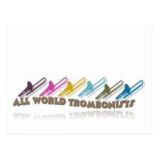 Diseño del grupo del trombone de Facebook Postal