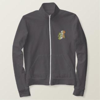 Diseño del irlandés chaqueta bordada