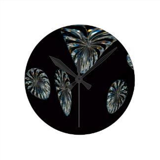 Diseño del irlandés - la colección cristalina reloj redondo mediano