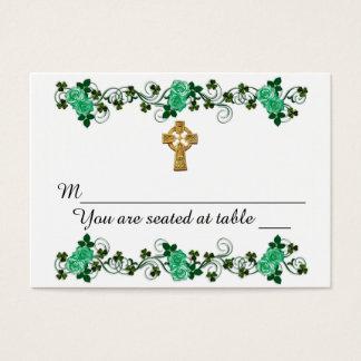 Diseño del irlandés para casar tarjetas del lugar