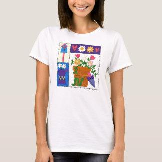 Diseño del jardín del remiendo del acerino camiseta