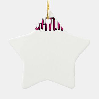 Diseño del levantamiento de pesas adorno navideño de cerámica en forma de estrella