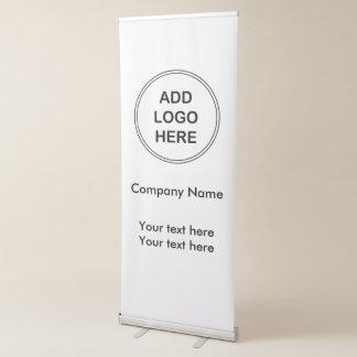 Diseño del logotipo de la bandera del negocio pancarta retráctil