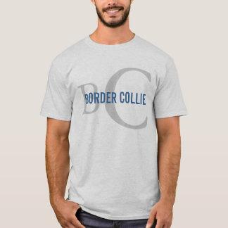 Diseño del monograma de la raza del border collie camiseta