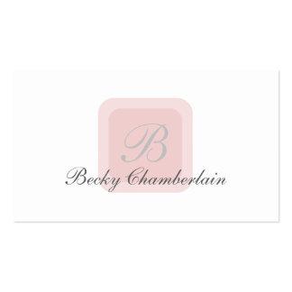 Diseño del monograma de las señoras tarjetas de visita