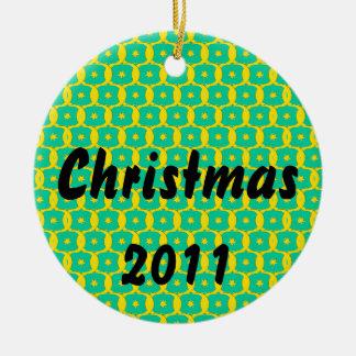 Diseño del navidad adorno redondo de cerámica