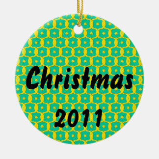 Diseño del navidad adorno navideño redondo de cerámica