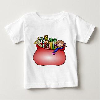 Diseño del navidad del saco del juguete de Santa Camisetas