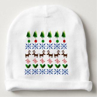 Diseño del navidad en el gorra del bebé gorrito para bebe