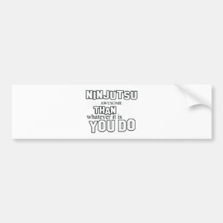 diseño del ninjutsu pegatina de parachoque