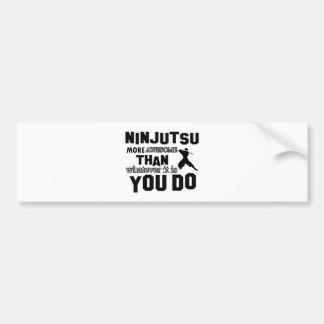 diseño del ninjutsu etiqueta de parachoque