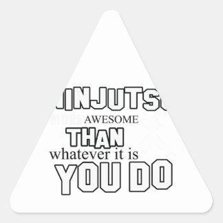diseño del ninjutsu pegatina triangular
