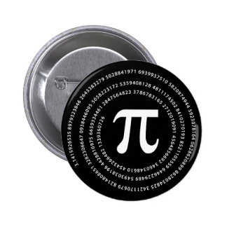 Diseño del número del pi chapa redonda 5 cm