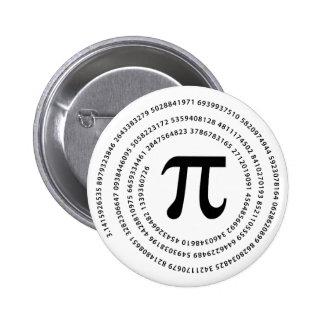 Diseño del número del pi pins