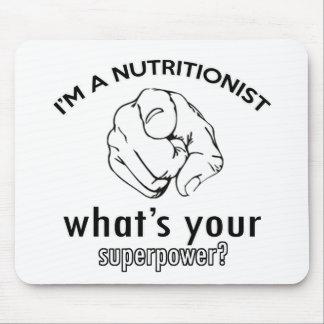 diseño del nutricionista alfombrilla de ratón
