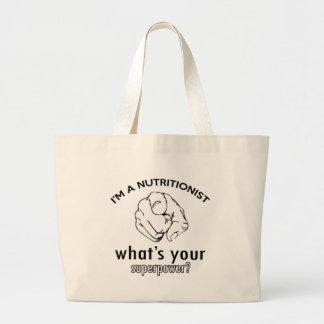 diseño del nutricionista bolsas de mano