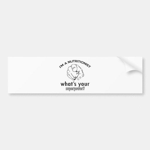 diseño del nutricionista pegatina de parachoque