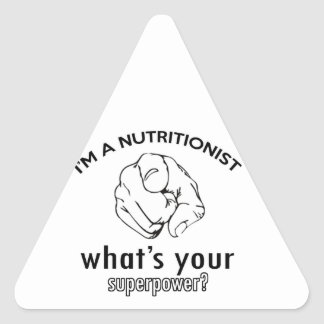 diseño del nutricionista pegatina triangular