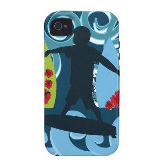 Diseño del océano de la playa del tipo fresco de Case-Mate iPhone 4 carcasa