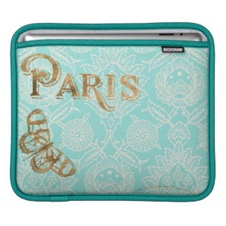 Diseño del oro de París del vintage Funda Para iPad