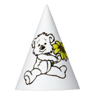 Diseño del oso de la margarita gorro de fiesta