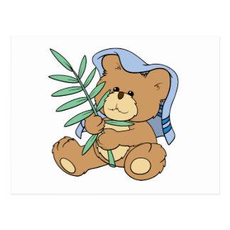 diseño del oso de peluche de Domingo de Ramos de Postal