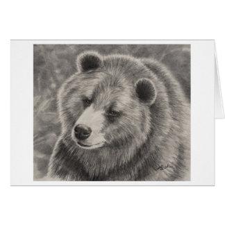 Diseño del oso en tarjetas de nota en blanco