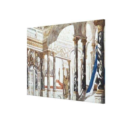 Diseño del paisaje para el bautismo, del galán dur impresión en lona estirada