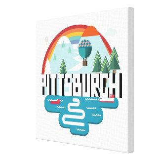 Diseño del paisaje urbano de Pittsburgh, Impresión En Lienzo