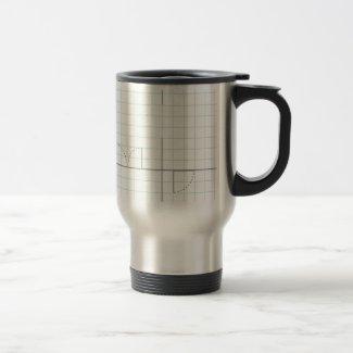 Diseño del papel cuadriculado taza