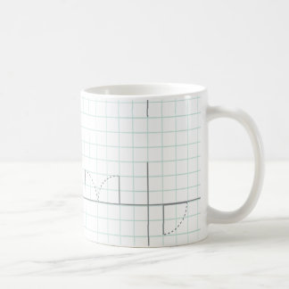 Diseño del papel cuadriculado taza de café