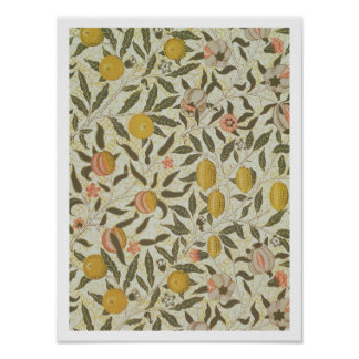 Diseño del papel pintado de la fruta o de la grana póster