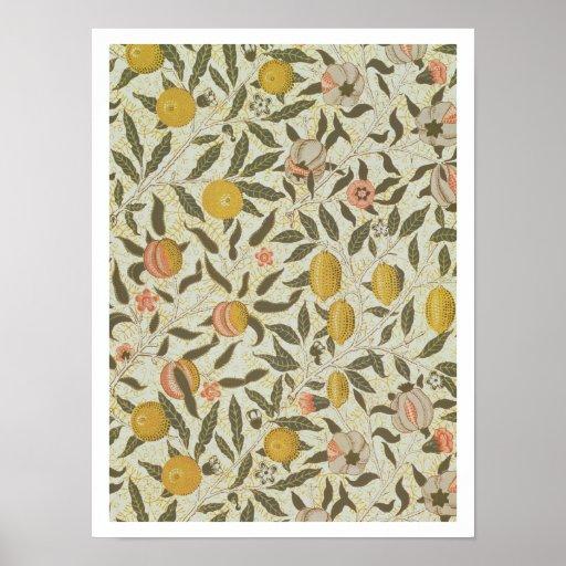 Diseño del papel pintado de la fruta o de la grana impresiones