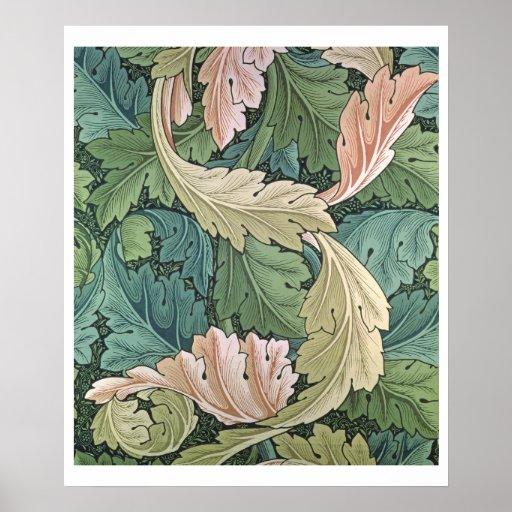 """Diseño del papel pintado del """"Acanthus"""", 1875 Poster"""