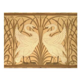 Diseño del papel pintado del cisne postal