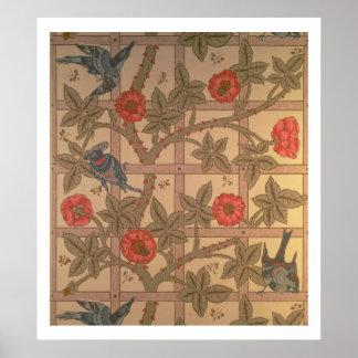 """Diseño del papel pintado del """"enrejado"""", 1864 impresiones"""