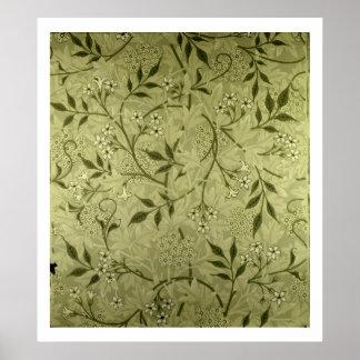 """Diseño del papel pintado del """"jazmín"""", 1872 impresiones"""