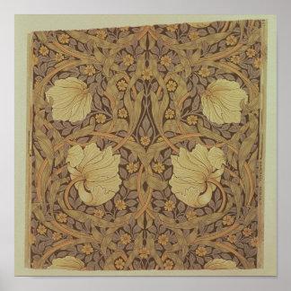 Diseño del papel pintado del Pimpernel 1876 Posters