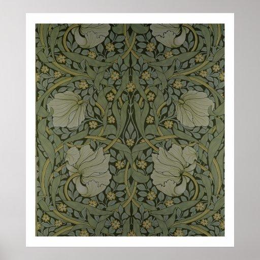 "Diseño del papel pintado del ""Pimpernel"", 1876 Posters"