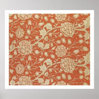Diseño del papel pintado del tulipán 1875 impresiones