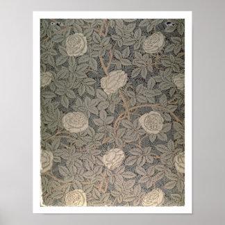 Diseño del papel pintado Rose-90 Posters