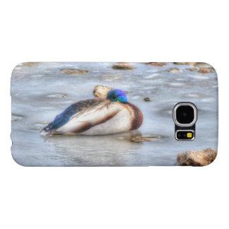 Diseño del pato del Pájaro-amante de la fauna del Fundas Samsung Galaxy S6