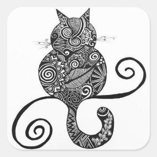 Diseño del pegatina del gato