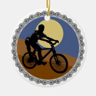 diseño del piñón de cadena de la bici de montaña adorno