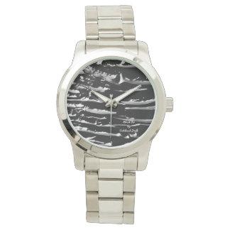 Diseño del reloj de la pulsera de la plata del