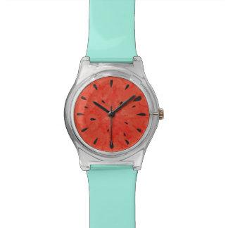 Diseño del reloj de la sandía del verano