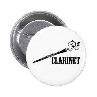 Diseño del remolino del vector del Clarinet Pin