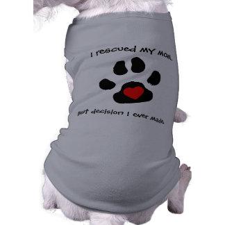 Diseño del rescate del perro camiseta sin mangas para perro